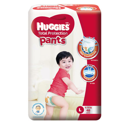 Huggies Total Protection Pants Large (9-14kg) 48 Pants