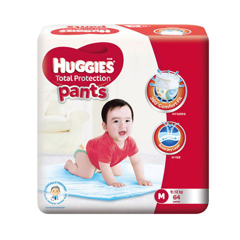 Huggies Total Protection Pants Medium (6-12kg) 64 Pants