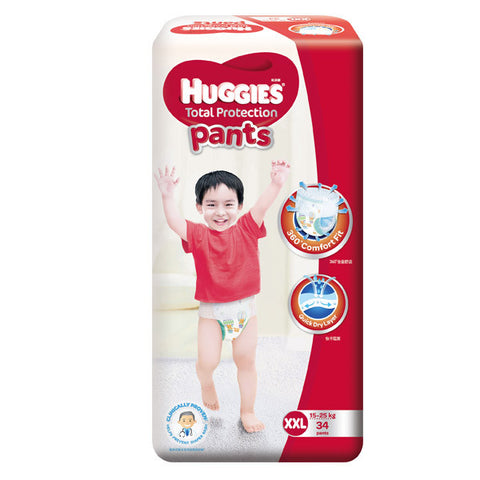 Huggies Total Protection Pants Large (15-25kg) 34 Pants