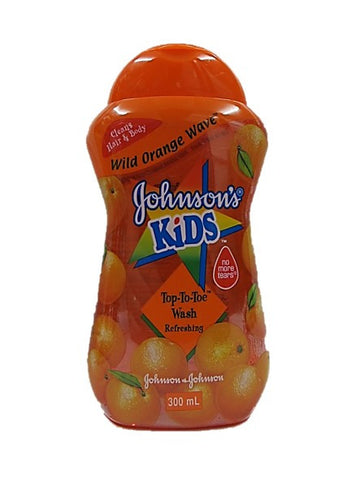 Johnson's Kids Wild Orange Wave Top to Toe Wash Refreshing 300ml