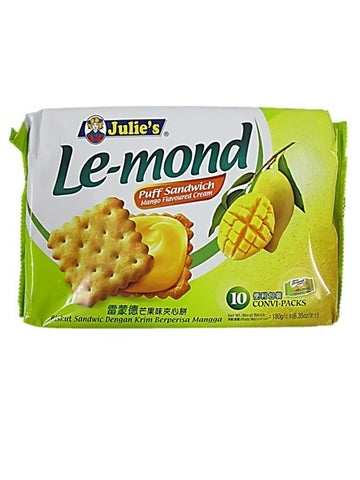 Julie's Le-mond Puff Sandwich Mango Flavoured Cream (10 Satchels) 180g
