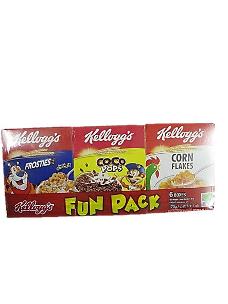 Kellogg's Fun Pack (6 Boxes of 6 Flavours) 170g
