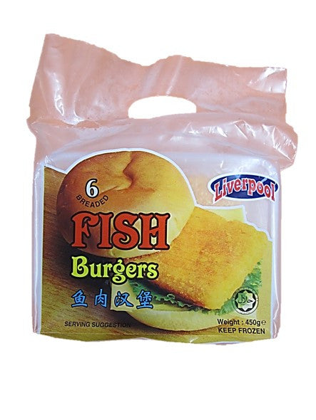 Liverpool Breaded Fish Burgers 6 Pieces 450g