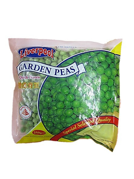 Liverpool Frozen Garden Peas Special Selected Quality 250g