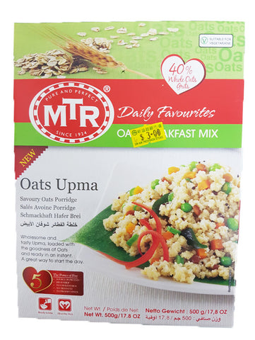 MTR Daily Favourites Oat Breakfast Mix Oats Upma 500g