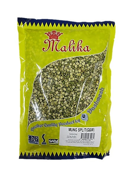 Malika Mung Split (Green & White) 500g