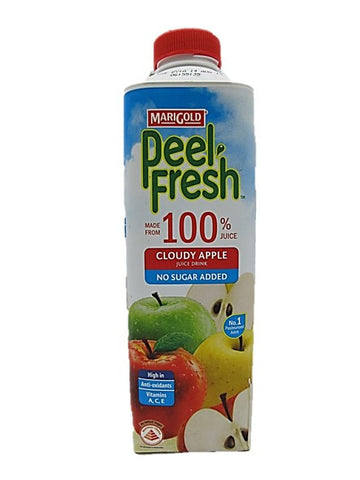 Marigold Peel Fresh 100% Cloudy Apple Juice Drink No Sugar Added 1L