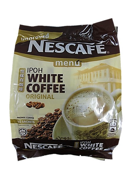 Nescafe Improved Ipoh White Premixed Coffee Original 15 Satchels