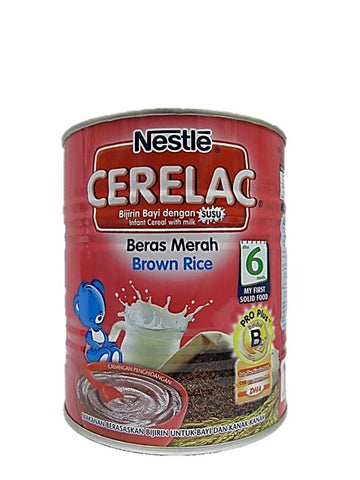 Nestle Cerelac (Infant Cereal with Milk) Brown Rice After 6 Months 350g Tin