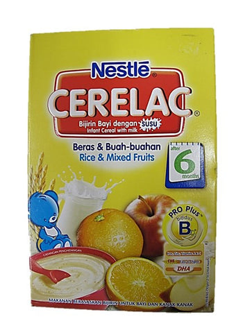 Nestle Cerelac (Infant Cereal with Milk) Rice & Mixed Fruits After 6 Months 250g Packet