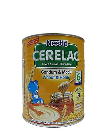 Nestle Cerelac (Infant Cereal with Milk) Wheat & Honey After 6 Months 225g Tin