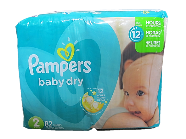 Pampers Baby Dry 2 (Up to 4-6kg) 82 Diapers
