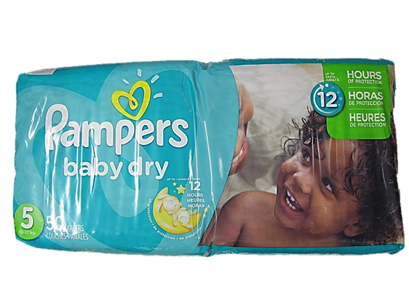 Pampers Baby Dry 5 (Up to 10-12kg) 50 Diapers