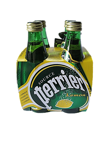 Perrier Sparkling Water Lemon Flavour (4 Bottles X 330ml)