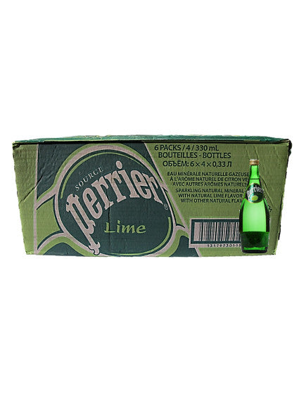 Perrier Sparkling Water Lime Carton (24 x 330ml)