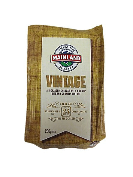 Premium Quality Mainland Tasty Vintage 24-Years Aged Cheddar Cheese 250g
