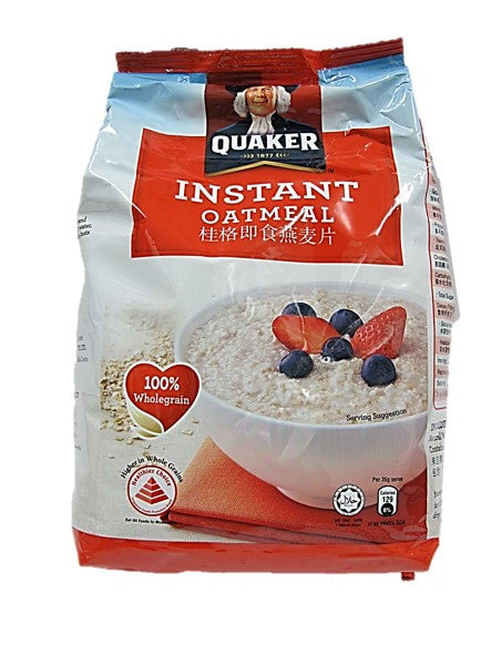 Quaker Instant Oatmeal 100% Wholegrain Packet 800g