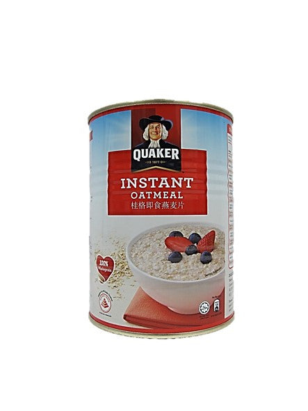Quaker Instant Oatmeal 100% Wholegrain Tin 400g