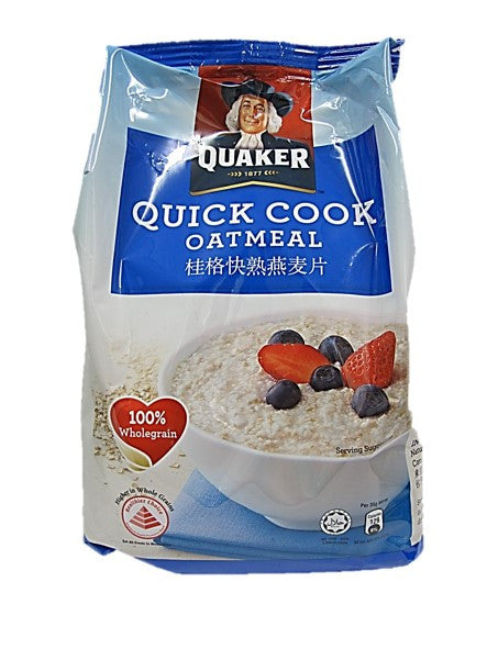 Quaker Quick Cook Oatmeal 100% Wholegrain Packet 800g