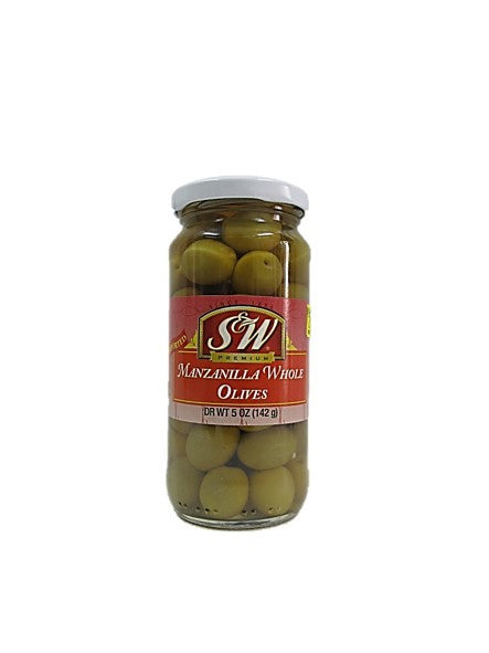 S&W Manzanilla Whole Olives 142g