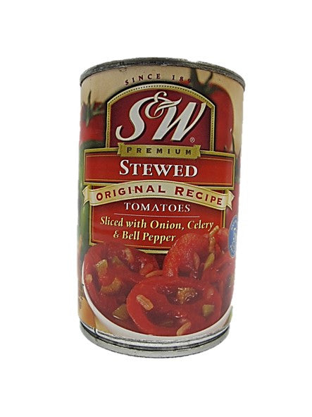 S&W Premium Stewed Tomatoes Sliced with Onion, Celery & Bell Pepper 411g