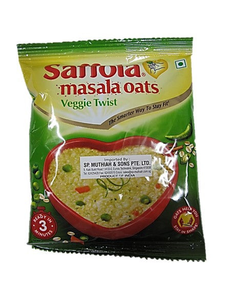 Saffola Masala Oats Veggie Twist Packet 40g