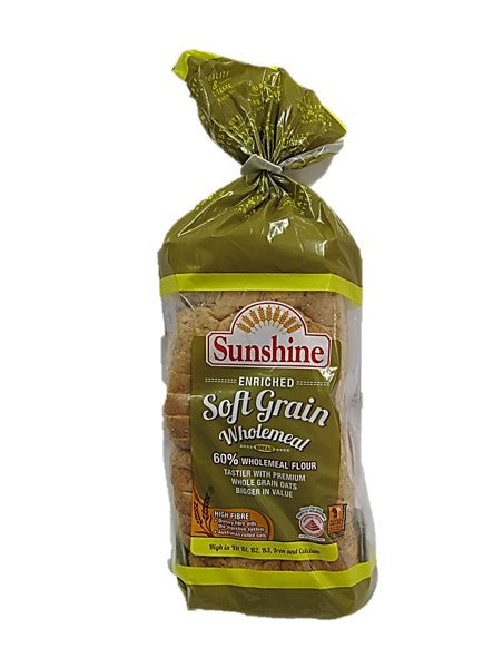 Sunshine High Fibre Enriched Soft Grain Wholemeal 550g