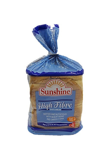 Sunshine No Trans Fat High Fibre White Bread 400g