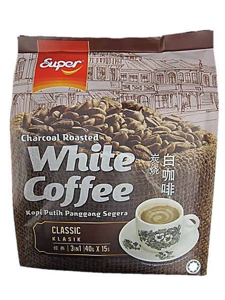 Super Charcoal Roasted White Coffee Classic (15 Satchels x 40g)