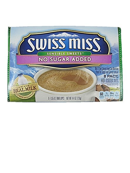 Swiss Miss No Sugar Added Hot Cocoa Mix 8 Packs