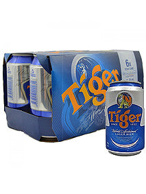 Tiger Can Beer 330ml x 6 Cans Pack