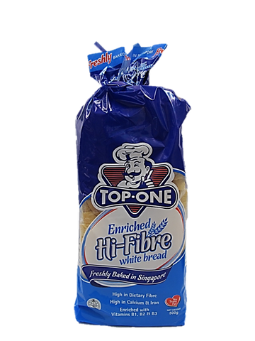 Top One Hi-Fibre White Bread 500g