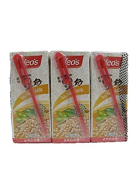 Yeo's Soya Bean Milk Not So Sweet (6 Packs X 250ml)