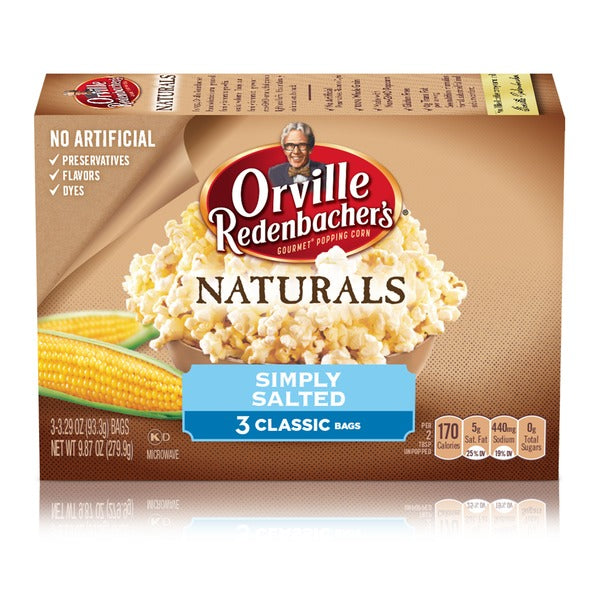 Orville Redenbacher's Naturals Simply Salted Popcorn (3 Bags) 279.9g
