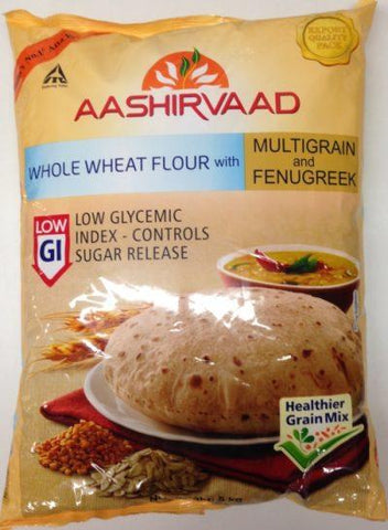 Aashirvaad whole wheat flour with multigrains and fenugreek 5kg