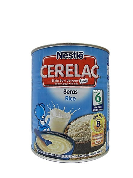 Nestle Cerelac (Infant Cereal with Milk) Rice After 6 Months 350g Tin