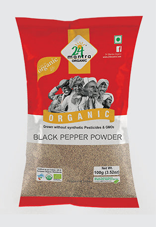 24 mantra organic black peppar powder