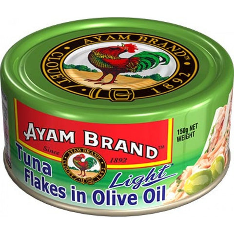 Ayam brand tuna flakes in olive oil 150g