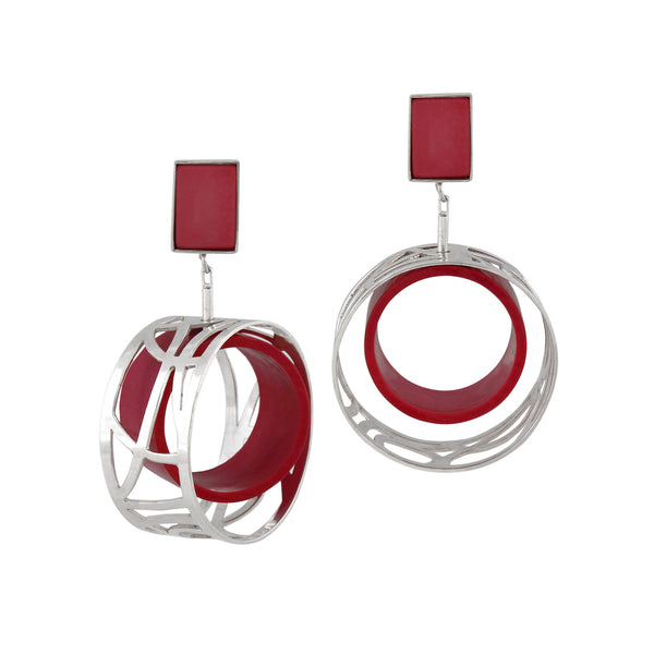 Control Panel Earring - Red Revolution Edition