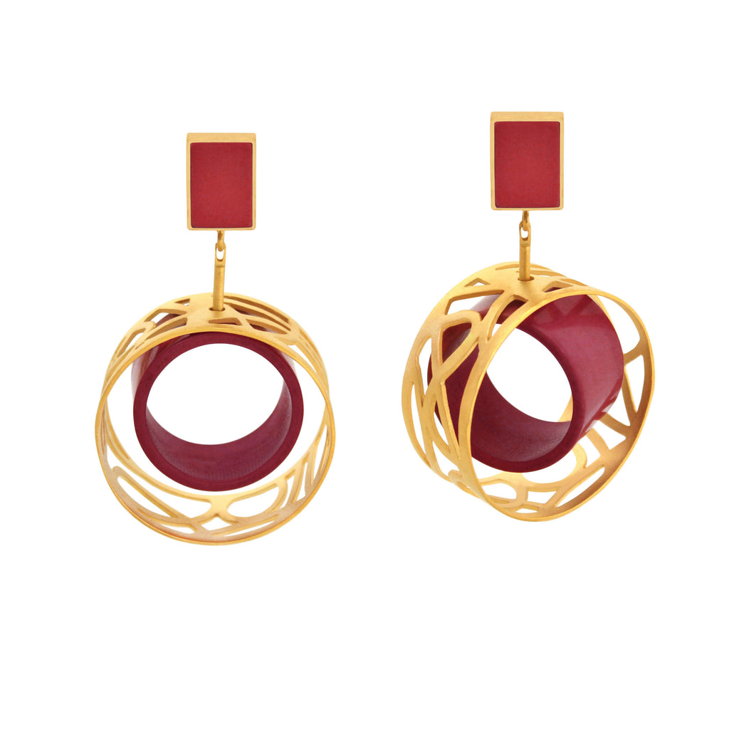 Control Panel Earring Gold - Jude Benhalim