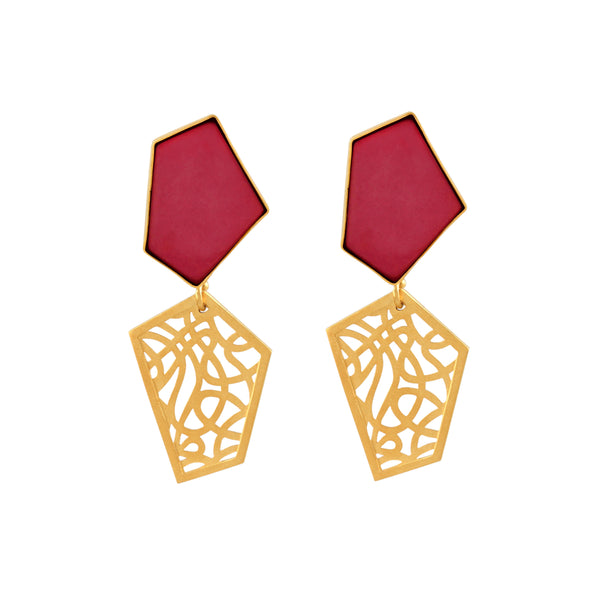 Intertwine Earrings - Red Revolution Edition