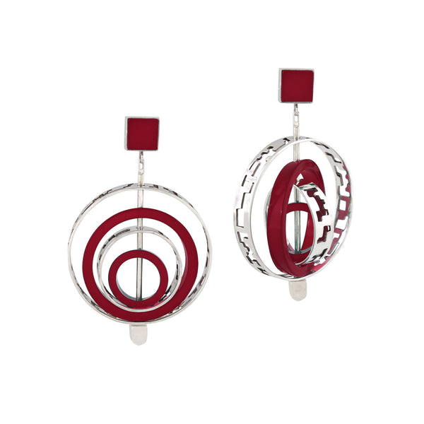Interchangeable Mega Router - Earring Red Revolution Edition - Jude Benhalim