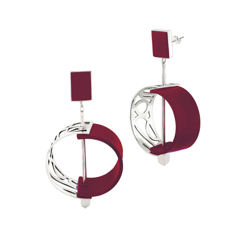 Panel Earring - Red Revolution Edition - Jude Benhalim