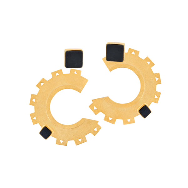 Cogs and Wheels Earrings - Jude Benhalim