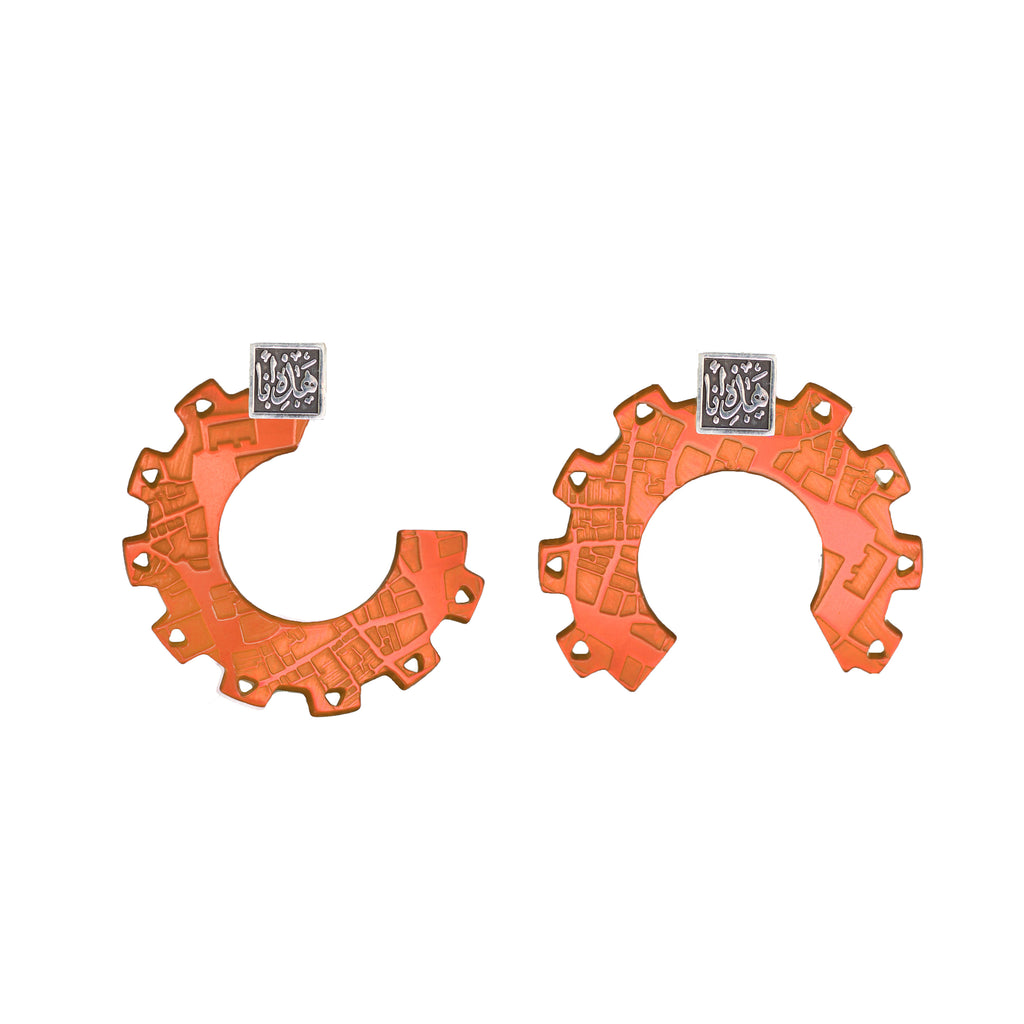Maps & Wheels Earrings - Jude Benhalim