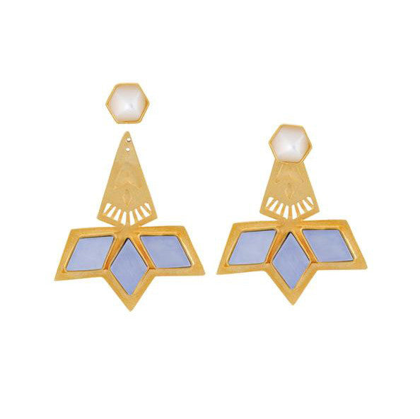 Gold-Plated Rocket Earrings - Jude Benhalim