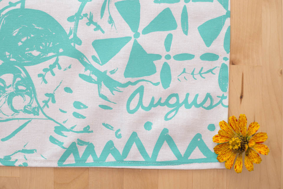August Tea Towel 2016 by Sara Parker