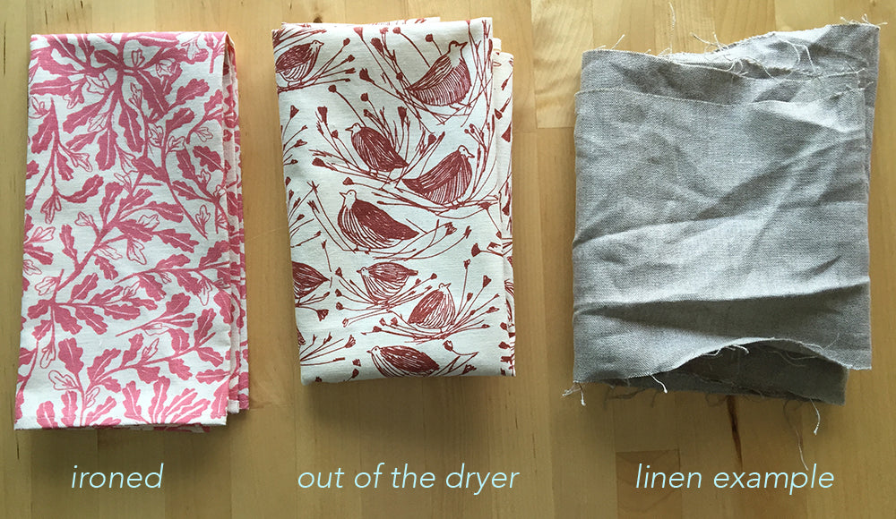 Examples of ironed fabrics
