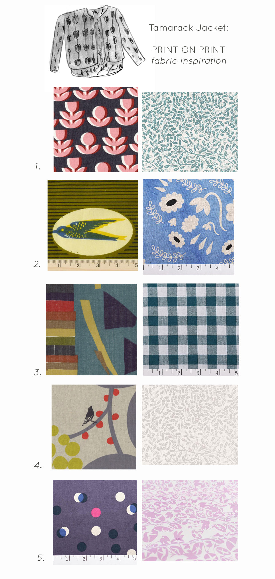 Tamarack Fabric Inspiration Print on Print by Sara Parker Textiles