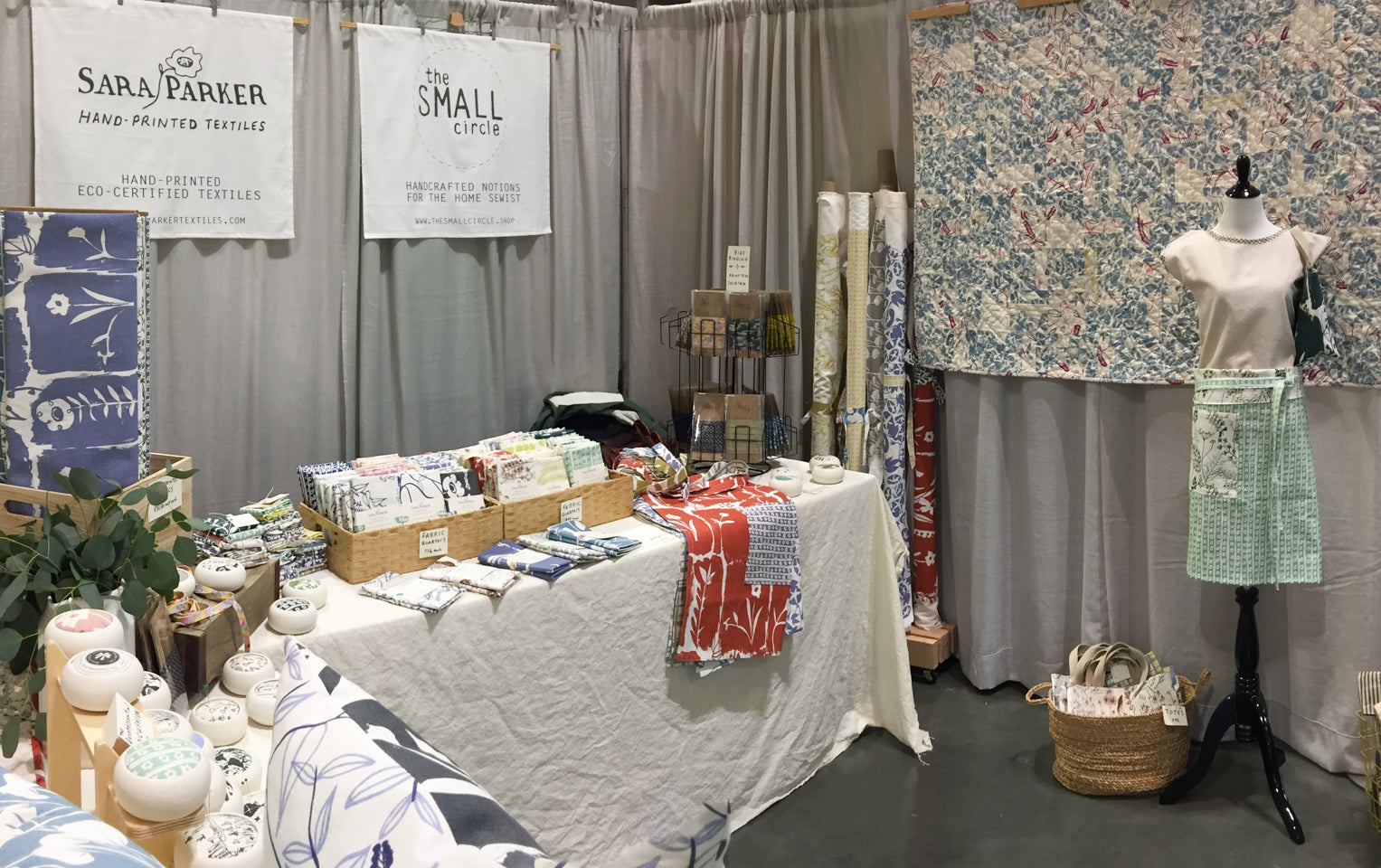 QuiltCon booth